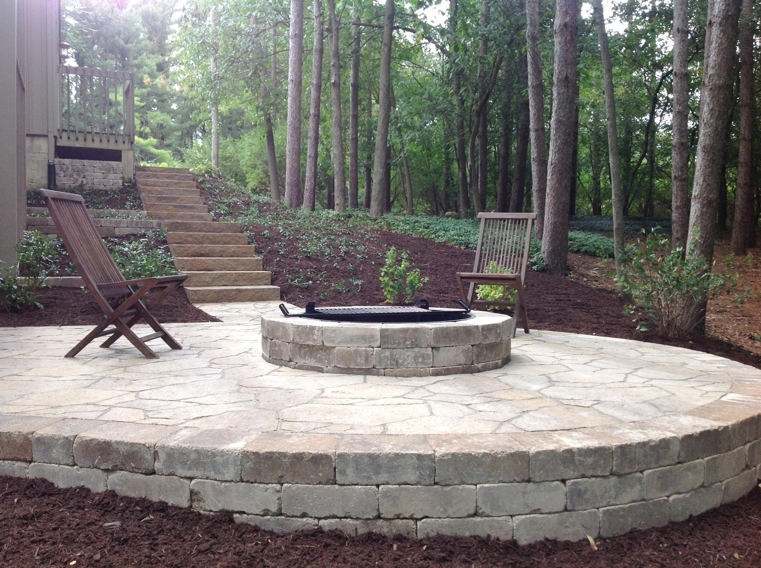 Belgard Rustic Patio & Firepit: After Patio