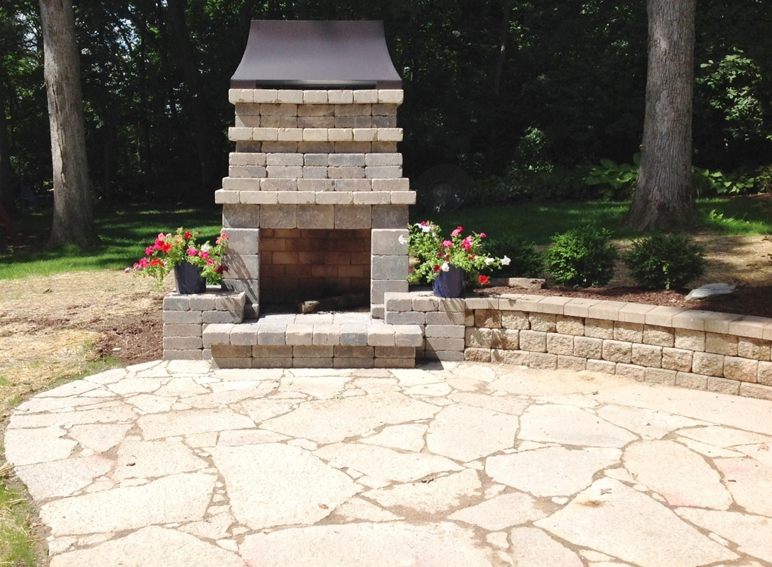 Cozy Outdoor Fireplace: Fireplace after